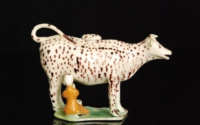 A late 18th to early 20th Century Staffordshire creamware co...