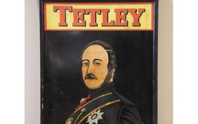 A painted Tetley 'The Albert' hanging pub sign, mid to late ...