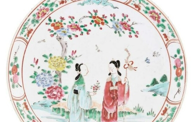 An Unusual Chinese Export-Style Porcelain Plate Japan