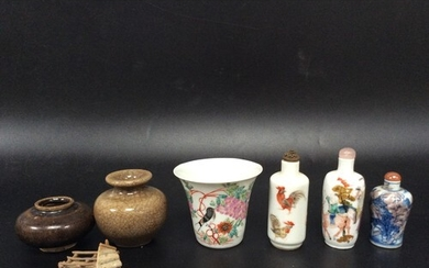 An early 20th century Chinese finely-potted porcelain wine c...