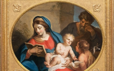 Carlo Maratti (Camerano 1625 - Rom 1713), workshop. The Holy Family with the Infant St....