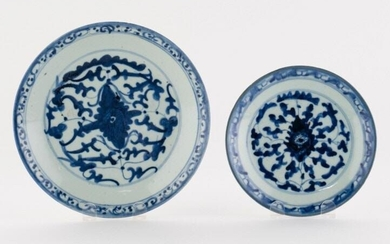 Chinese Jiaqing Period Blue & White Porcelain Plates