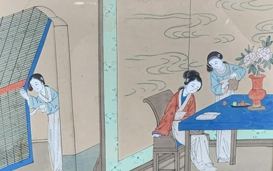 Chinese Tea Time Painting