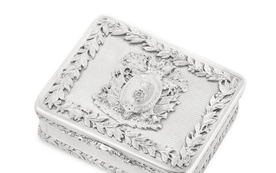 Derbyshire Yeomanry Cavalry Regiment Interest: A George IV silver table snuff box