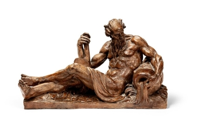French, late 18th century, after Jean-Jacques Caffieri (1725 - 1792), River god   France, fin XVIIIe siècle, d'après Jean-Jacques Caffieri (1725 - 1792), Dieu fleuve