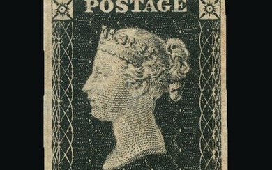 Great Britain - QV (line engraved) : (SG 2) 1840 1d black, p...