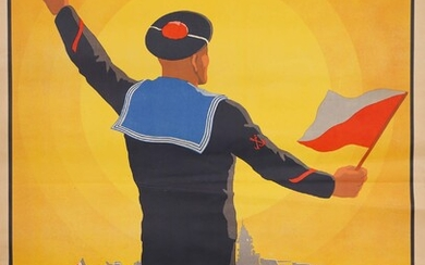 Join the Navy 1941 Lithographic poster signed and dated in...
