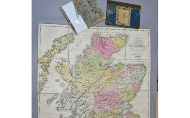 MAPS, two 19th Century maps of Scotland, Oliver & Boyd's Tra...