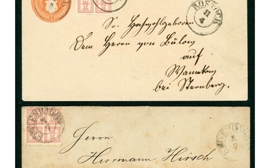 MECKLENBURG-SCHWERIN: Pair of c.1860s covers, inc. roughly o...