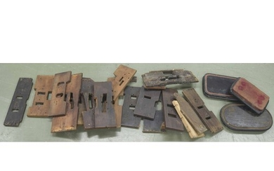 Quantity of various longcase clock seat boards and clock sta...