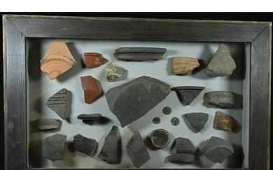 Roman Britain - a table-top museum, the diorama with coins, ...