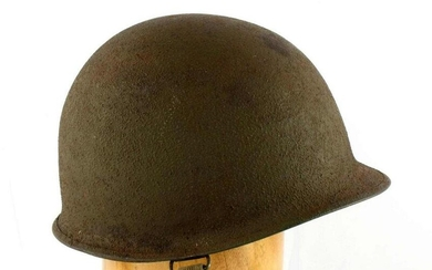 WWII US ARMY M1 HELMET 541A TEXTURED WITH LINER