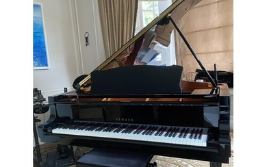 Yamaha (c2009) A 6ft 11in Model C6 grand piano in a bright e...