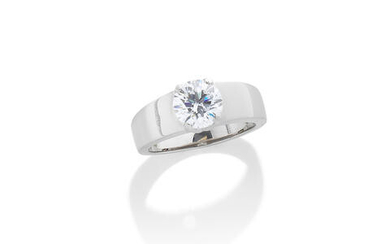 A DIAMOND SINGLE-STONE RING, BY, DE BEERS