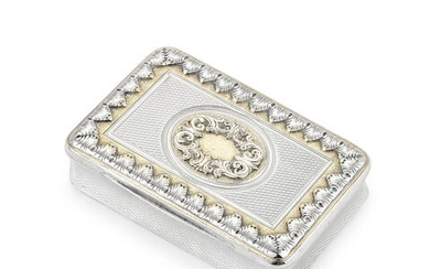 A George III silver and parcel-gilt snuff box