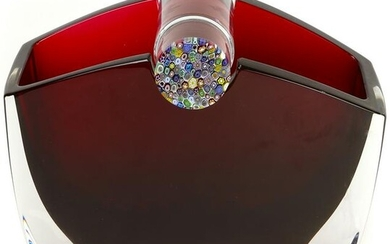 """A Thomas Bastide for Baccarat """"Oceanie"""" red to clear"""