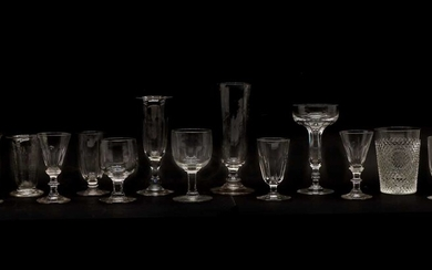 A collection of Georgian and later table glass