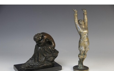 After Milo, bronze figure of a female nude, modelled in a se...