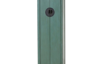 Arhaus Furniture Chinese Style Green-Painted Cabinet