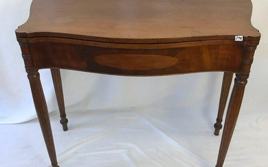 Early American Mahogany Flip top gaming table with