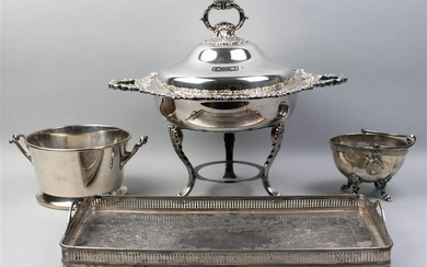 GROUP OF FOUR SILVERPLATED TABLEWARES