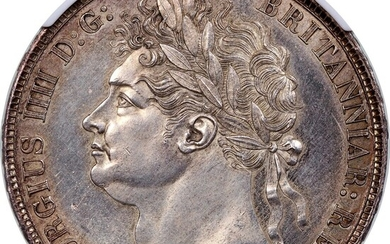 Great Britain, silver crown, 1821, SECUNDO
