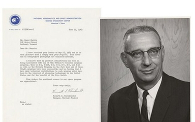 Kenneth Kleinknecht Signed Photograph and Typed Letter