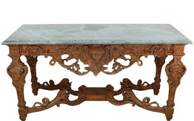 Louis XIV Manner French Sculpted Wood Console