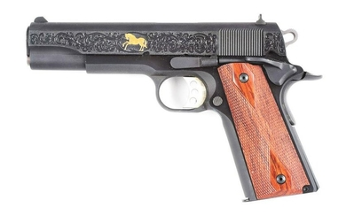 (M) ENGRAVED COLT GOVERNMENT MODEL SEMI-AUTOMATIC