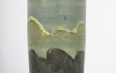 RARE ARTS AND CRAFTS OCEAN SCENE POTTERY VASE
