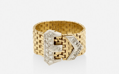 Tiffany & Co., Gold and diamond buckle ring