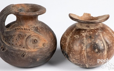 Two pieces of pre-Columbian South American pottery