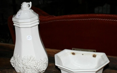 Vintage Red Cliff Ironstone Lavabo