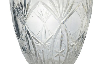 Waterford Style Crystal Cut Vase