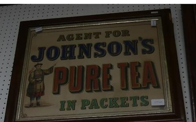 A 19thC framed advertising Sign, 'Agent for Johnson's Pure T...