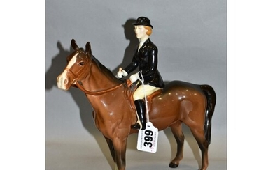 A BESWICK HUNTSMAN (STANDING), No 1501, style two, brown hor...