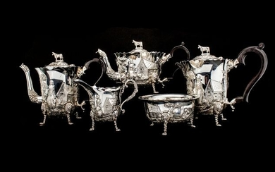 A Fine Sterling Silver Tea/cofeeService(5) - .925 silver - Royal Irish Silver Co - Ireland - 1971