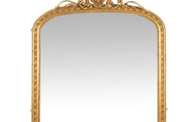 A Victorian giltwood and composition overmantel wall mirror