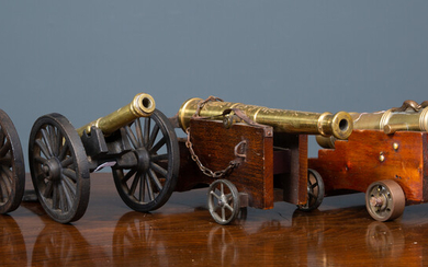 A brass cannon