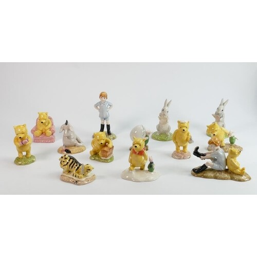 A collection of Royal Doulton Winnie The Pooh figures: (13).