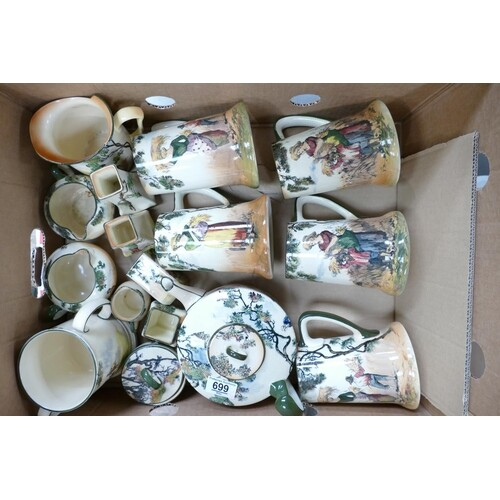 A collection of Royal Doulton series ware: The Gleaners comp...