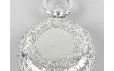 A late Victorian silver sovereign holder.