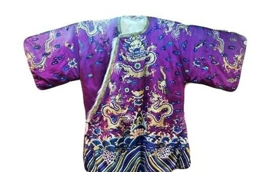 An Important 19th Century Chinese Qing Dynasty Gold Threaded...