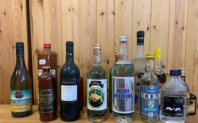Assorted vodka and other spirits (qty)