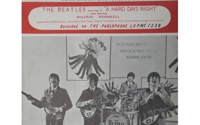 Beatles, sheet music to A Hard Day's Night, plus various oth...