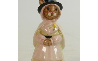 Royal Doulton bunnykins figure Welsh Lady DB172: In a white ...
