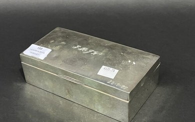 Sterling Silver cigar box, marked C & G, HHH, inscription an...