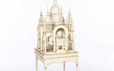 Victorian Style Painted Birdcage